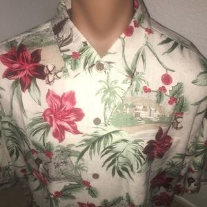 Tommy Bahama Hawaiian Holiday Silk Shirt 3XL New